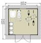 LUOMAN Blockbohlenhaus »Lillevilla«, B x T: 407 x 384 cm, Satteldach, inkl. Fußboden-Thumbnail