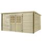 MR. GARDENER Blockbohlenhaus »Malta«, B x T: 430 x 339 cm, Flachdach-Thumbnail