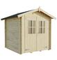 MR. GARDENER Blockbohlenhaus »Neuseeland«, BxT: 224 x 222 cm, Satteldach-Thumbnail