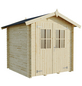 MR. GARDENER Blockbohlenhaus »Neuseeland«, BxT: 229 x 213 cm (Aufstellmaße), Satteldach-Thumbnail