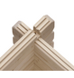KARIBU Blockgarage »Blockbohlengarage«, Außenmaß BxT: 387 x 537 cm, natur-Thumbnail