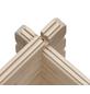 KARIBU Blockgarage »Blockbohlengarage«, BxT: 387 x 582 cm (Außenmaße), Massivholz-Thumbnail