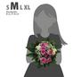 Blumenstrauß »Polyantha Rosen, Chrysanthemen, Schleierkraut«, Ø 28–32 cm-Thumbnail