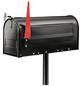 BURG WÄCHTER Briefkastenpfosten »US-Mailbox 893«, Stahl, schwarz-Thumbnail