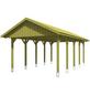 SKANHOLZ Carport, B x T x H: 430 x 750 x 326 cm, grün-Thumbnail