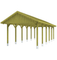 SKANHOLZ Carport, B x T x H: 430 x 900 x 326 cm, grün-Thumbnail