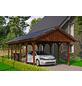 SKANHOLZ Carport, B x T x H: 430 x 900 x 326 cm, nussbaum-Thumbnail