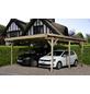 WEKA Carport, B x T x H: 500 x 500 x 247 cm, holzfarben-Thumbnail