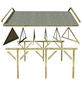KARIBU Carport »Classic 2«, Außenmaß BxT: 273 x 586 cm, natur-Thumbnail