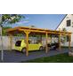 SKANHOLZ Carport »Emsland«, Außenmaß BxT: 365 x 738 cm, eiche hell-Thumbnail