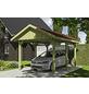 SKANHOLZ Carport »Wallgau«, Außenmaß BxT: 380 x 500 cm, grün-Thumbnail