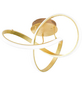 wofi® Deckenleuchte goldfarben 49 W, 1-flammig, dimmbar, inkl. Leuchtmittel in warmweiß-Thumbnail
