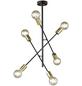 Deckenleuchte goldfarben/schwarz 60 W, 6-flammig, E27, ohne Leuchtmittel-Thumbnail