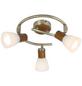GLOBO LIGHTING Deckenleuchte »ITASY« silberfarben/dunkelbraun/alabasterfarben 40 W, 3-flammig, E14, inkl. Leuchtmittel-Thumbnail