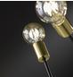 Deckenleuchte schwarz/goldfarben 60 W, 6-flammig, E27, ohne Leuchtmittel-Thumbnail