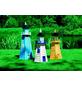 PROMADINO Deko-Leuchtturm, BxH: 45 x 95 cm, Kiefernholz, blau/weiß-Thumbnail