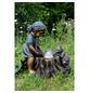 GRANIMEX Dekobrunnen, Höhe: 64 cm, bronzefarben/hellblau, inkl. Pumpe-Thumbnail