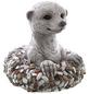 Dekofigur »Kiesel Figuren«, Erdmännchen, Keramik, grau-Thumbnail