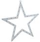 KONSTSMIDE Dekoleuchte, sternförmig, Höhe: 47 cm, netz, weiß-Thumbnail