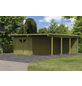 KARIBU Doppelcarport »Eco«, Außenmaß BxT: 527 x 576 cm, natur-Thumbnail