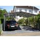 XIMAX Doppelcarport »Linea«, Außenmaß BxT: 545,6 x 495,4 cm, edelstahlfarben-Thumbnail