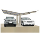XIMAX Doppelcarport »Linea«, Außenmaß BxT: 547,6 x 495,4 cm, edelstahlfarben-Thumbnail