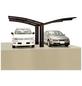 XIMAX Doppelcarport »Portoforte«, Außenmaß BxT: 543 x 495,4 cm, braun-Thumbnail