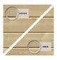 KARIBU Doppelflügeltür für Gartenhäuser, BxHxt: 82 x 180,5 x 3,6 cm, Nordisches Fichtenholz-Thumbnail