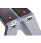 KRAUSE Doppelleiter »STABILO«, Anzahl Sprossen: 8, aluminium|holz-Thumbnail