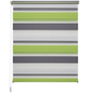 LIEDECO Doppelrollo »Mini Tricolor«, grün/grau/weiß, Polyester-Thumbnail