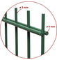 FLORAWORLD Doppelstabmatte, HxL: 83 x 201 cm, grün-Thumbnail