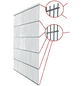 FLORAWORLD Doppelstabmatte, HxL: 83 x 251 cm, silberfarben-Thumbnail