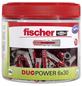 FISCHER Dübel, DUOPOWER, 202 Stück, 6 x 30 mm-Thumbnail