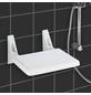 WENKO Duschklappsitz »Secura«, Aluminium | Acrylnitril-Butadien-Styrol (ABS)-Thumbnail