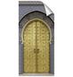 mySPOTTI Duschrückwand-Panel, fresh, Tür   Metalloptik, 210x100 cm-Thumbnail