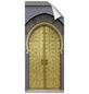 mySPOTTI Duschrückwand-Panel, fresh, Tür | Metalloptik, 210x90 cm-Thumbnail