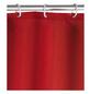 WENKO Duschvorhang »Anti-Schimmel«, BxH: 180 x 200 cm, Uni, rot-Thumbnail