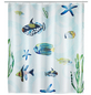 WENKO Duschvorhang »Aquaria«, BxH: 180 x 200 cm, Fische/Seestern/Algen, mehrfarbig-Thumbnail