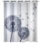 WENKO Duschvorhang »Astera«, BxH: 200 x 180 cm, Pusteblume, weiß/anthrazit-Thumbnail