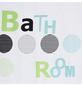 KLEINE WOLKE Duschvorhang »Bathroom«, BxH: 180 x 200 cm, Schriftzug, mint-Thumbnail
