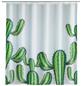 WENKO Duschvorhang »Cactus«, BxH: 180 x 200 cm, Kakteen, weiß/grün-Thumbnail