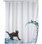 WENKO Duschvorhang »Cat«, BxH: 180 x 200 cm, Katze, mehrfarbig-Thumbnail