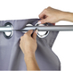 WENKO Duschvorhang »Comfort Flex«, BxH: 180 x 200 cm, Uni, grau-Thumbnail