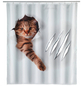 WENKO Duschvorhang »Cute Cat«, BxH: 180 x 200 cm, Katze, mehrfarbig-Thumbnail