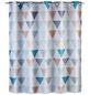 WENKO Duschvorhang »Ethno Flex«, BxH: 180 x 200 cm, Dreiecksmuster, mehrfarbig-Thumbnail