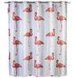 WENKO Duschvorhang »Flamingo«, BxH: 180 x 200 cm, Flamingo, mehrfarbig-Thumbnail
