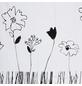 KLEINE WOLKE Duschvorhang »Grace«, BxH: 180 x 200 cm, Blumen, weiß/schwarz-Thumbnail
