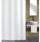 KLEINE WOLKE Duschvorhang »Kito«, BxH: 180 x 200 cm, Uni, weiß-Thumbnail