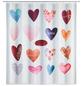 WENKO Duschvorhang »Love«, BxH: 180 x 200 cm, Herzen, mehrfarbig-Thumbnail