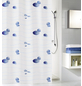 KLEINE WOLKE Duschvorhang »Miami«, BxH: 180 x 200 cm, Muscheln, blau-Thumbnail